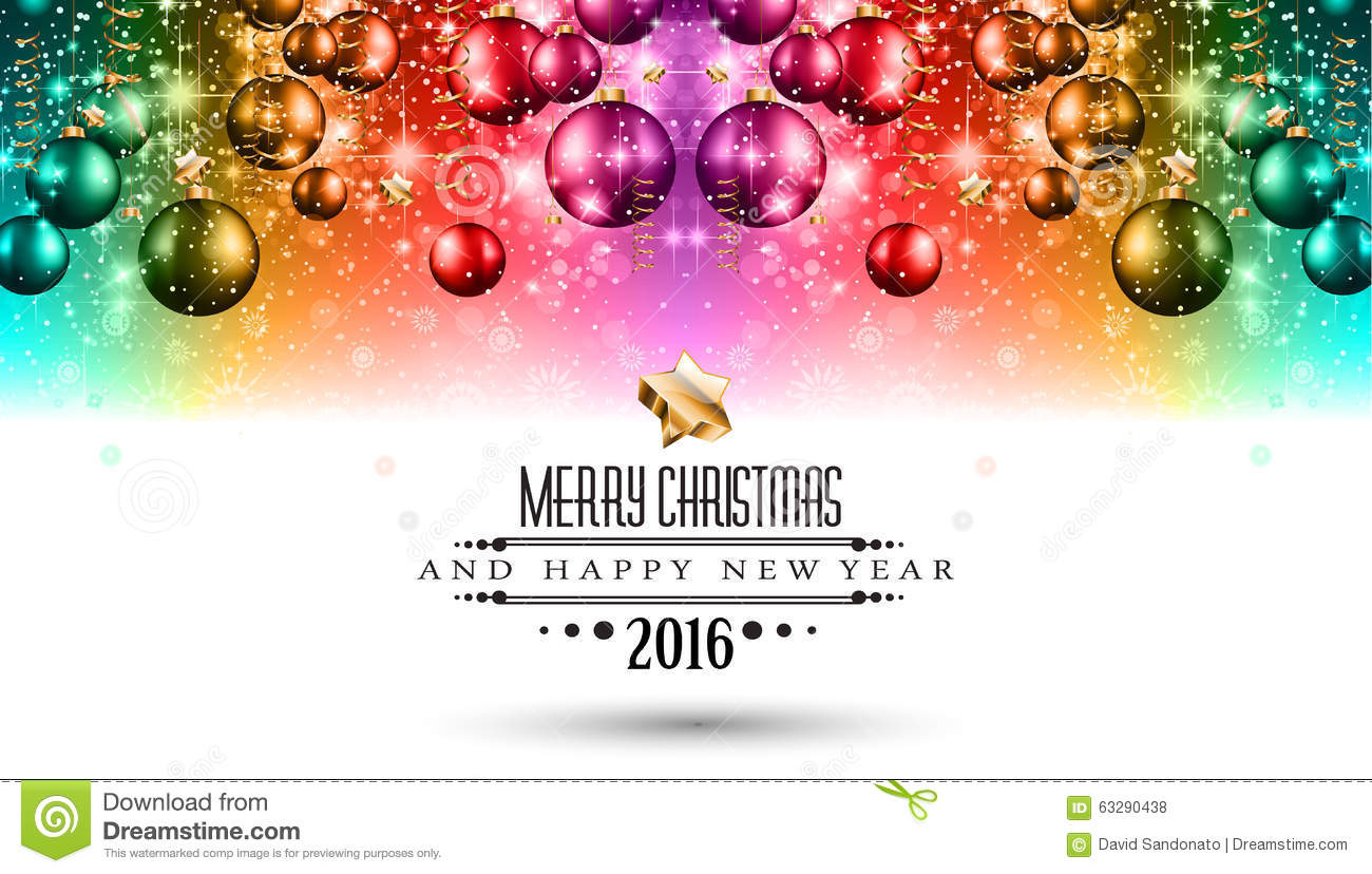 Merry Christmas Seasonal Background For Your Greeting Cards Stock ...