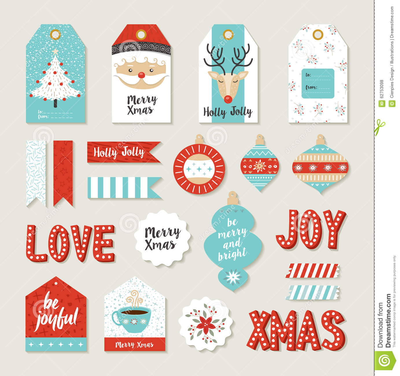 photograph relating to Merry Christmas Tags Printable known as Merry Xmas Fixed Sbook Do-it-yourself Printable Tags Inventory