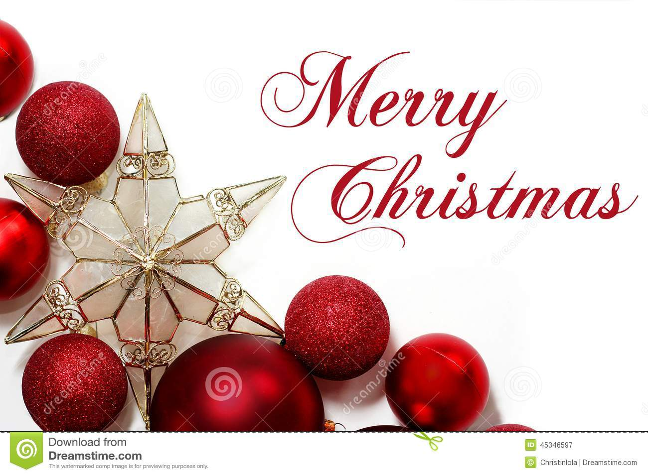 Merry Christmas Sign With Ornaments Border Stock Image - Image of ...