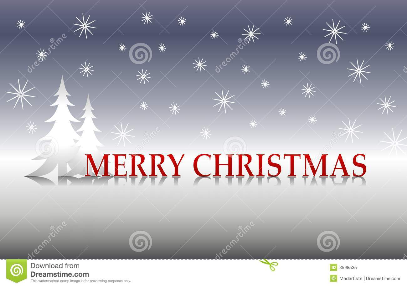 Christmas with white trees and silver background decorated with