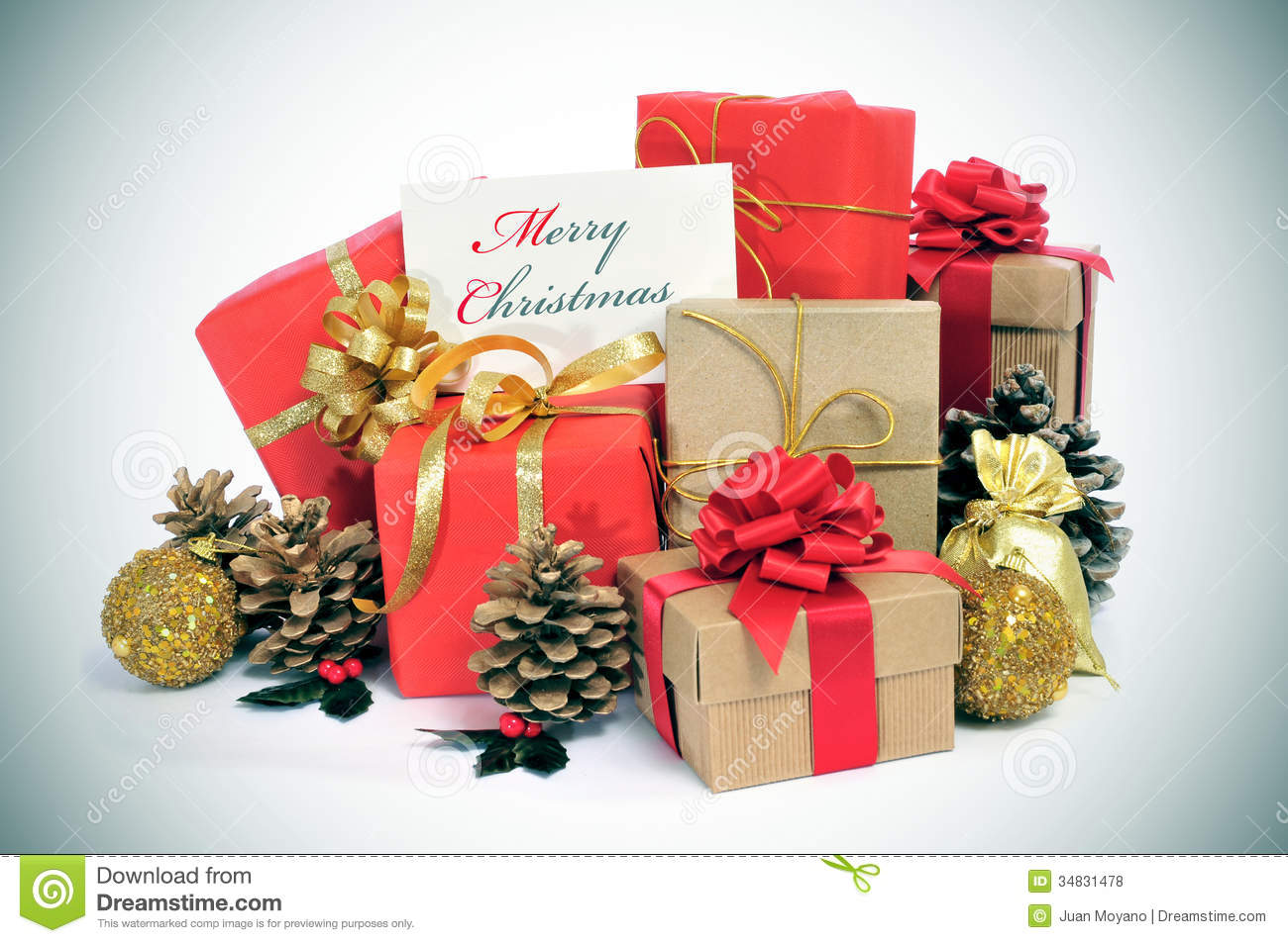 Merry Christmas Gift.Merry Christmas Stock Photo Image Of Celebrate Presents