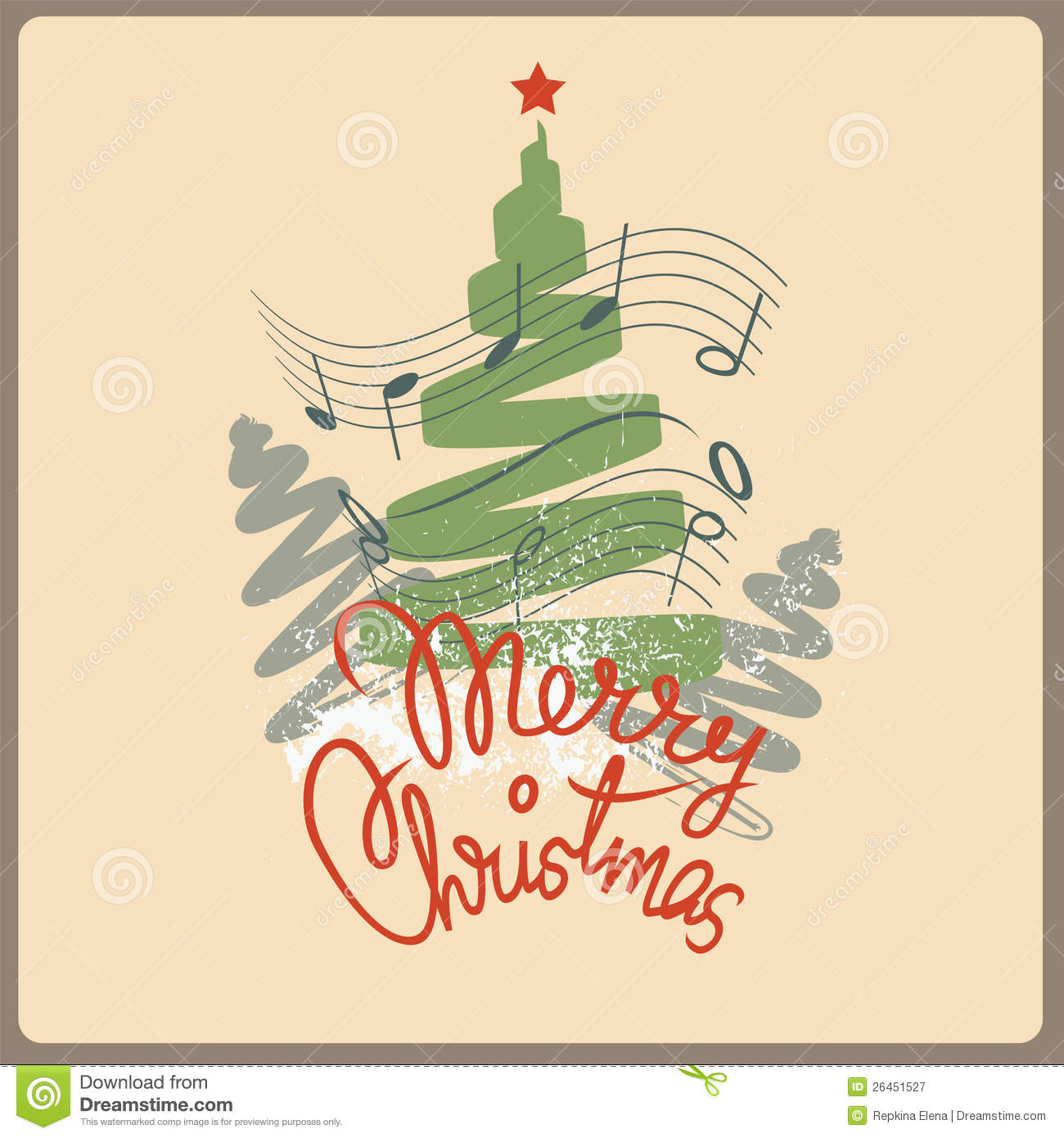 Merry Christmas Song Post Card Royalty Free Stock Photography ...