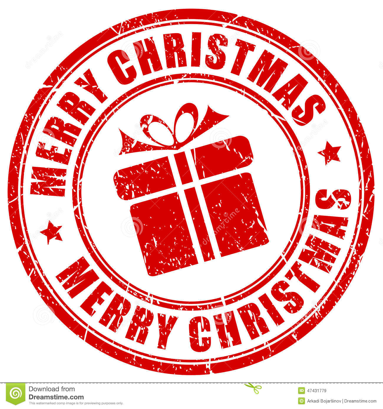 Merry Christmas Stamp Stock Vector - Image: 47431779