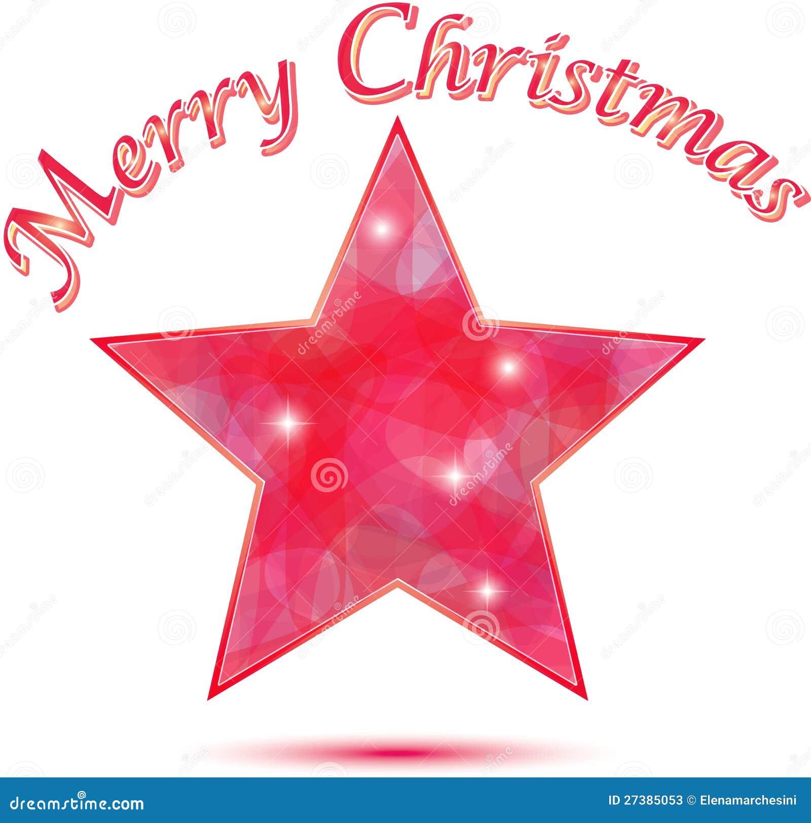 Merry Christmas Star Background Stock Photos - Image: 27385053