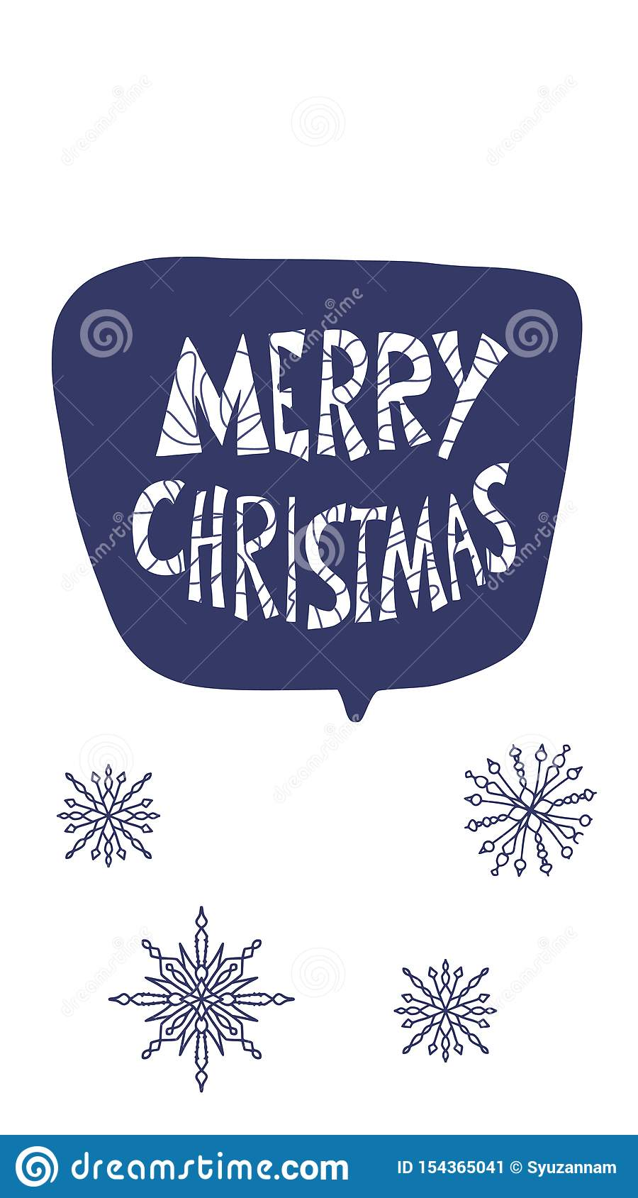 A Christmas Story Logo Vector.Merry Christmas Story Post With Hand Drawn Text Stock