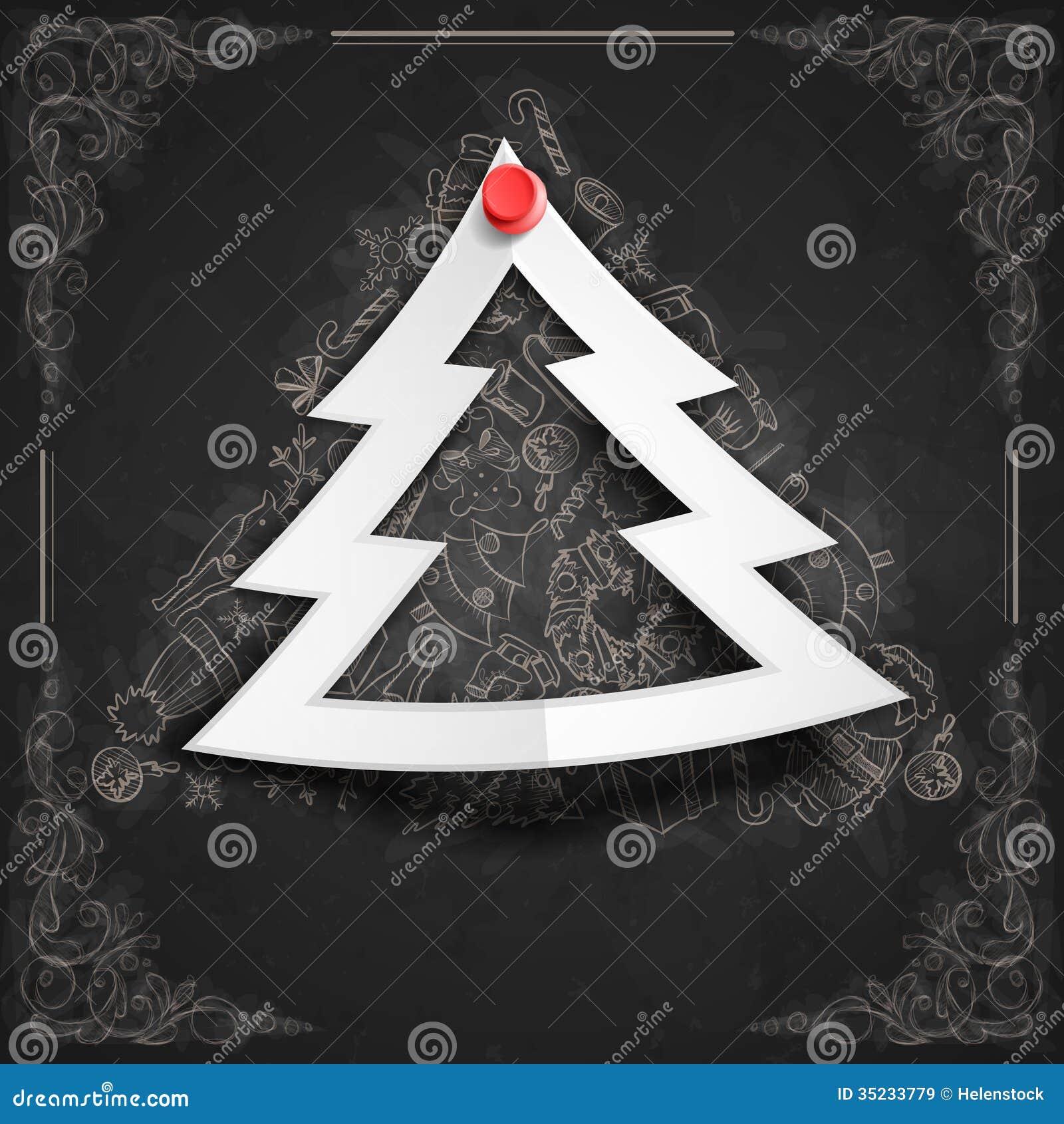 Merry Christmas Stylish Tree. Royalty Free Stock Images