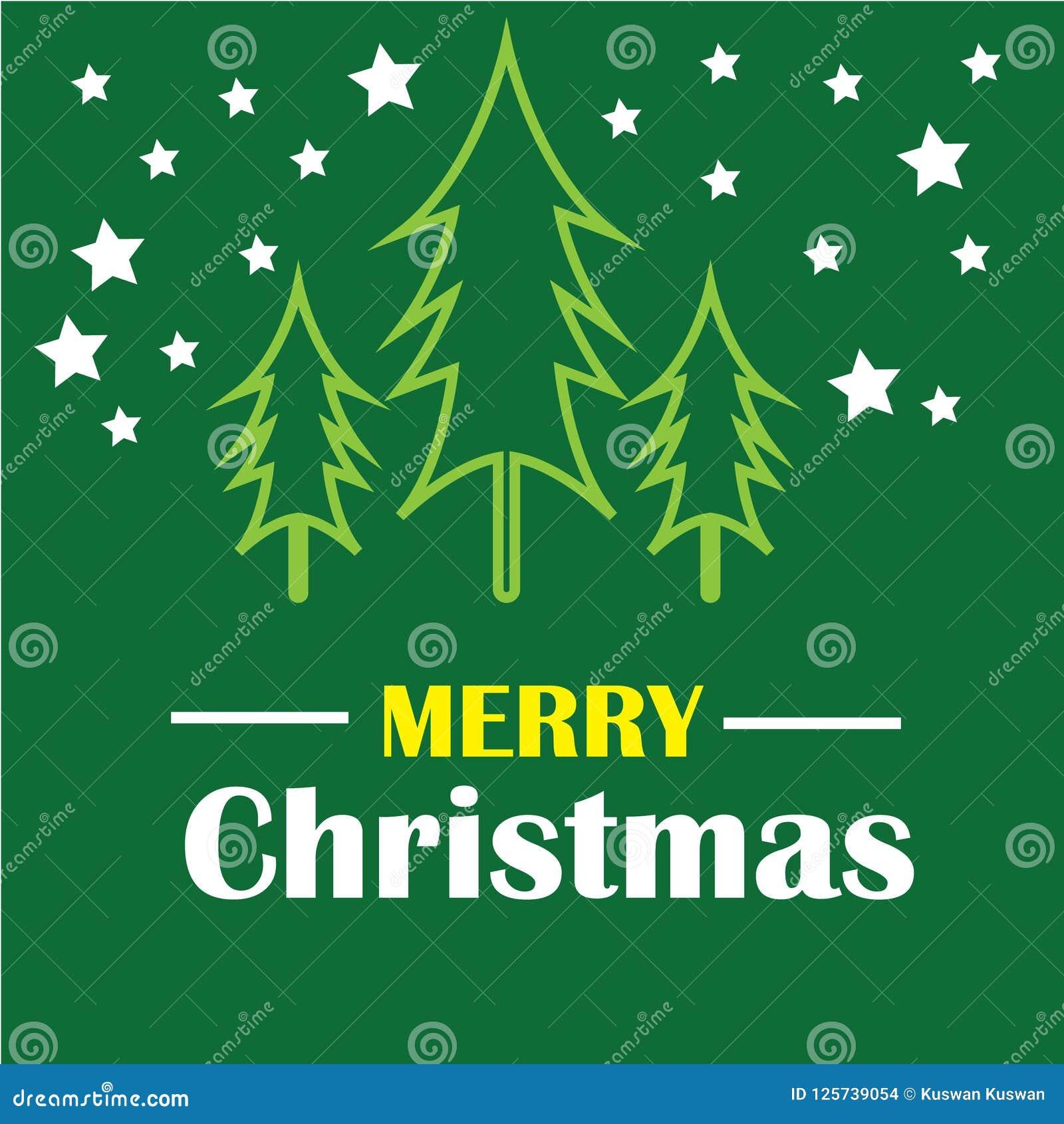 Christmas Green Color.Merry Christmas Template Design For Religion Editable Eps
