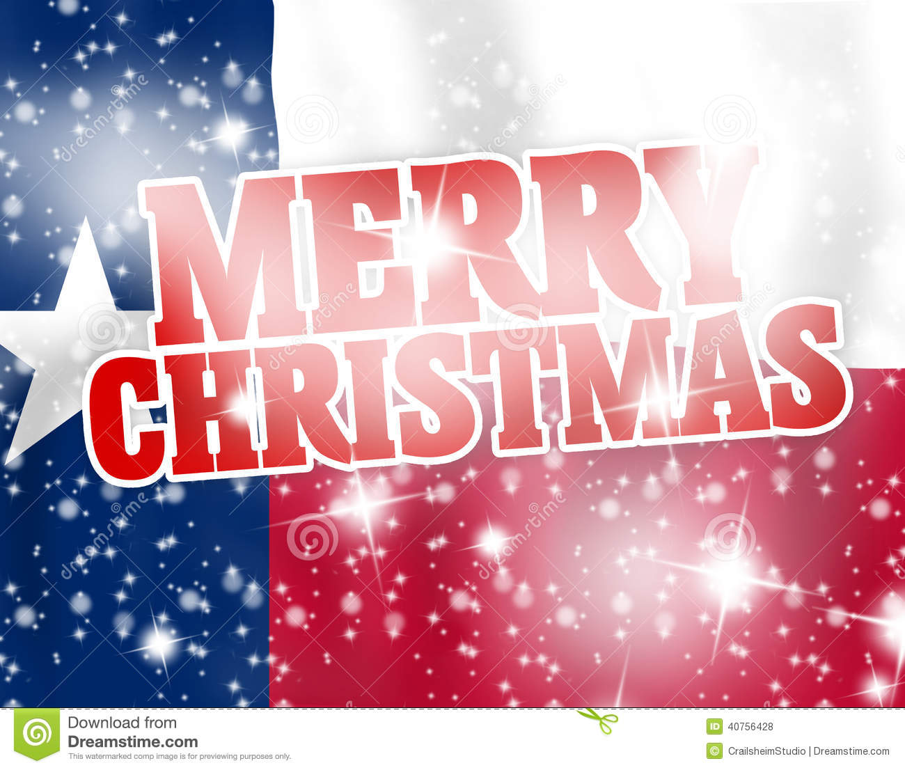 Merry Christmas Texas Flag Stock Photo - Image: 40756428