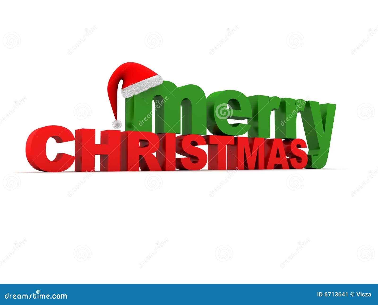 Merry Christmas Text Stock Image - Image: 6713641