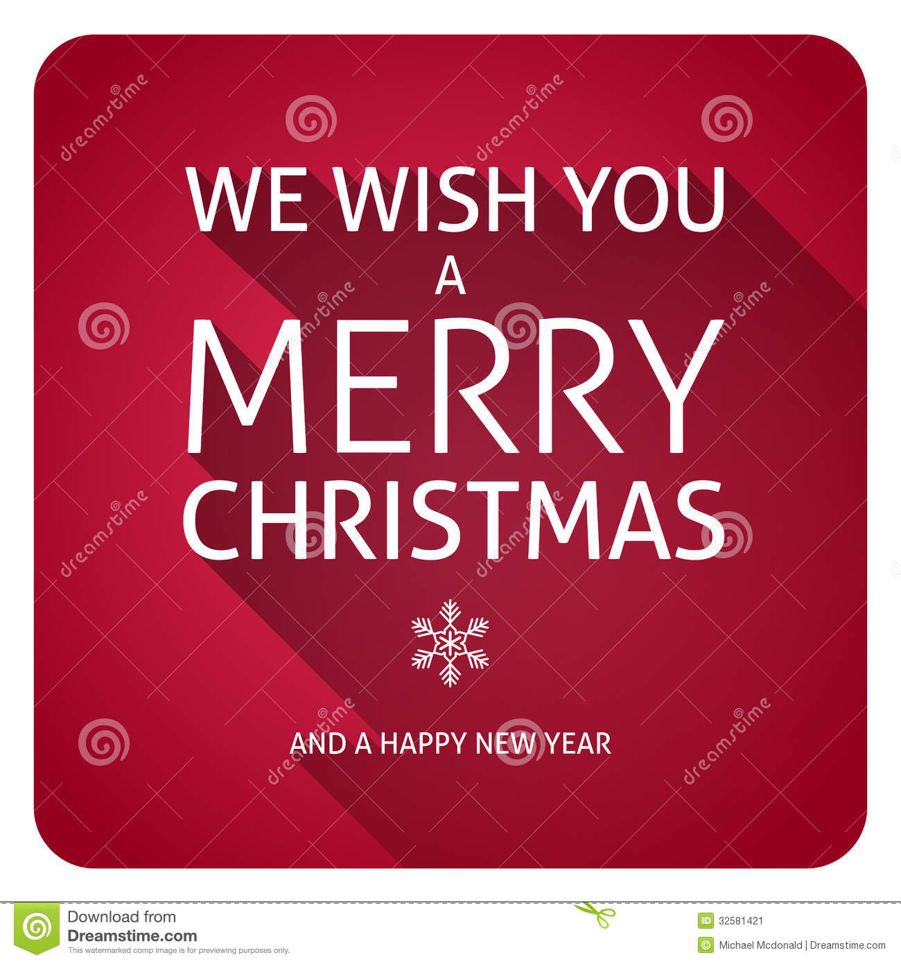Merry Christmas Text Stock Image - Image: 32581421