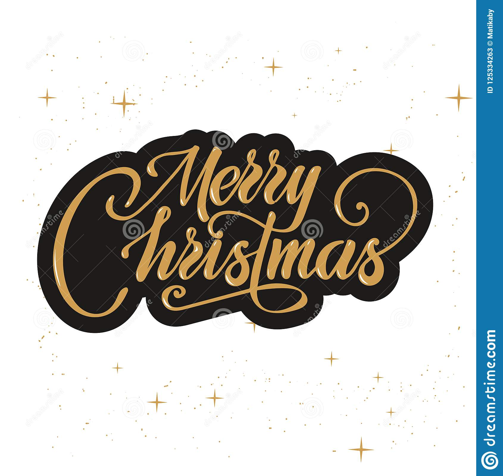 merry christmas text vector on white background lettering for
