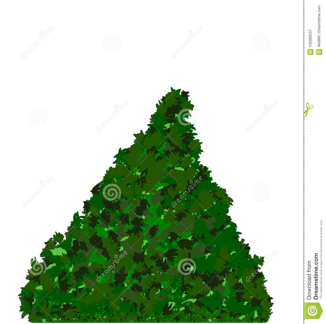 Merry Christmas Tree Plain Isolated Space For Your Texts