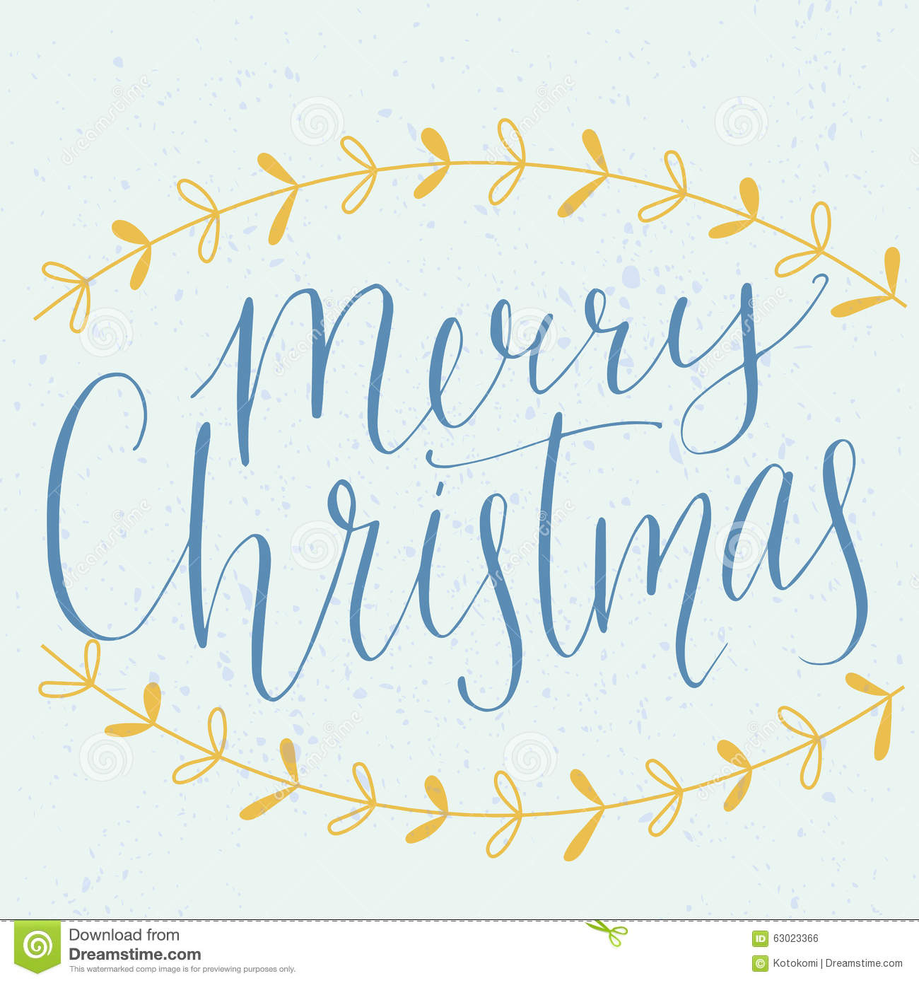 Download Merry Christmas Type Modern Calligraphy Made With Stock Vector