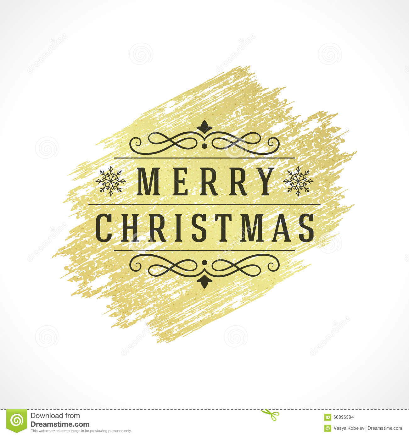 merry christmas typography greeting card design stock vector image 60896384