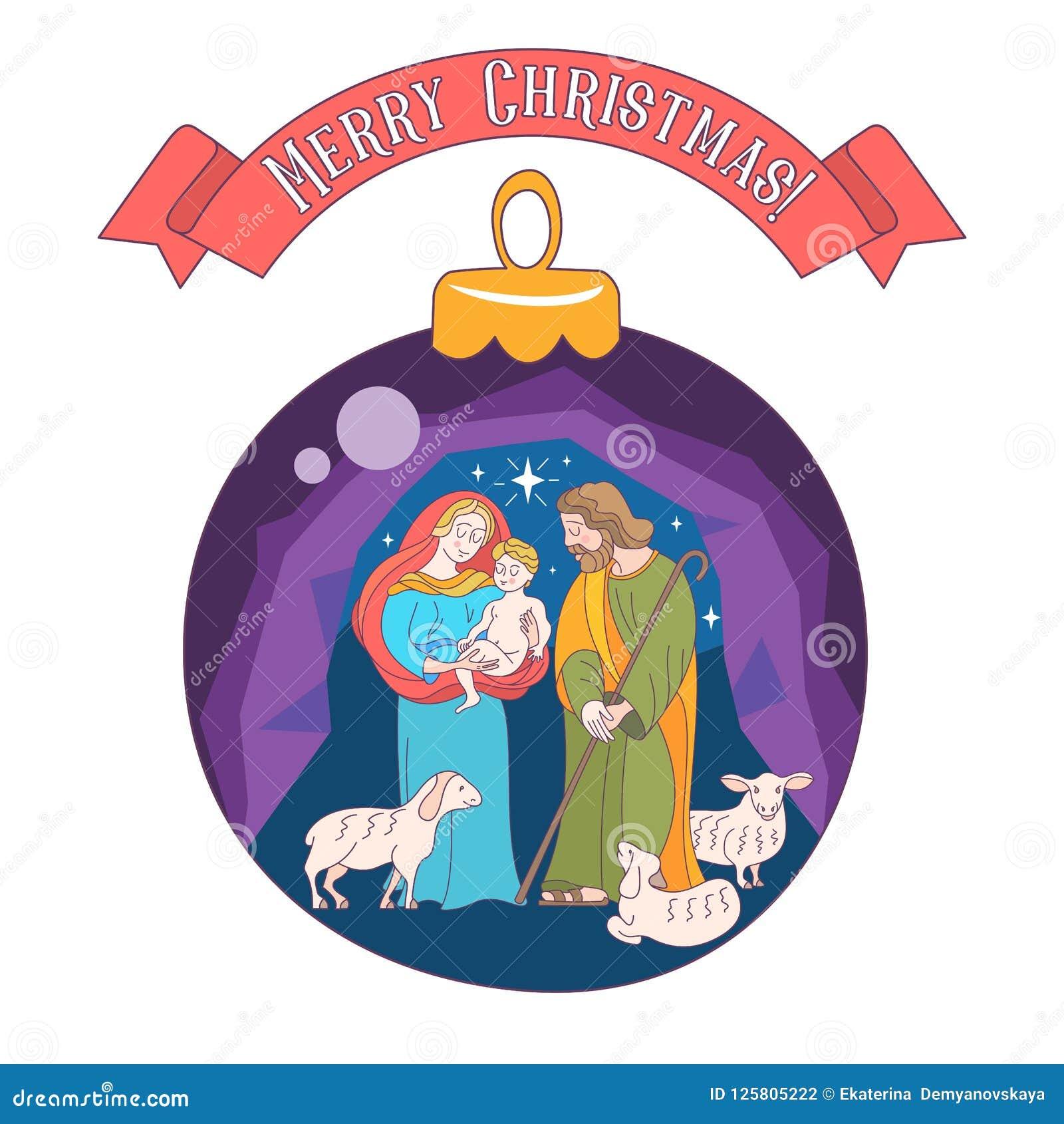 Merry christmas vector greeting card virgin mary baby jesus a download merry christmas vector greeting card virgin mary baby jesus a stock vector m4hsunfo