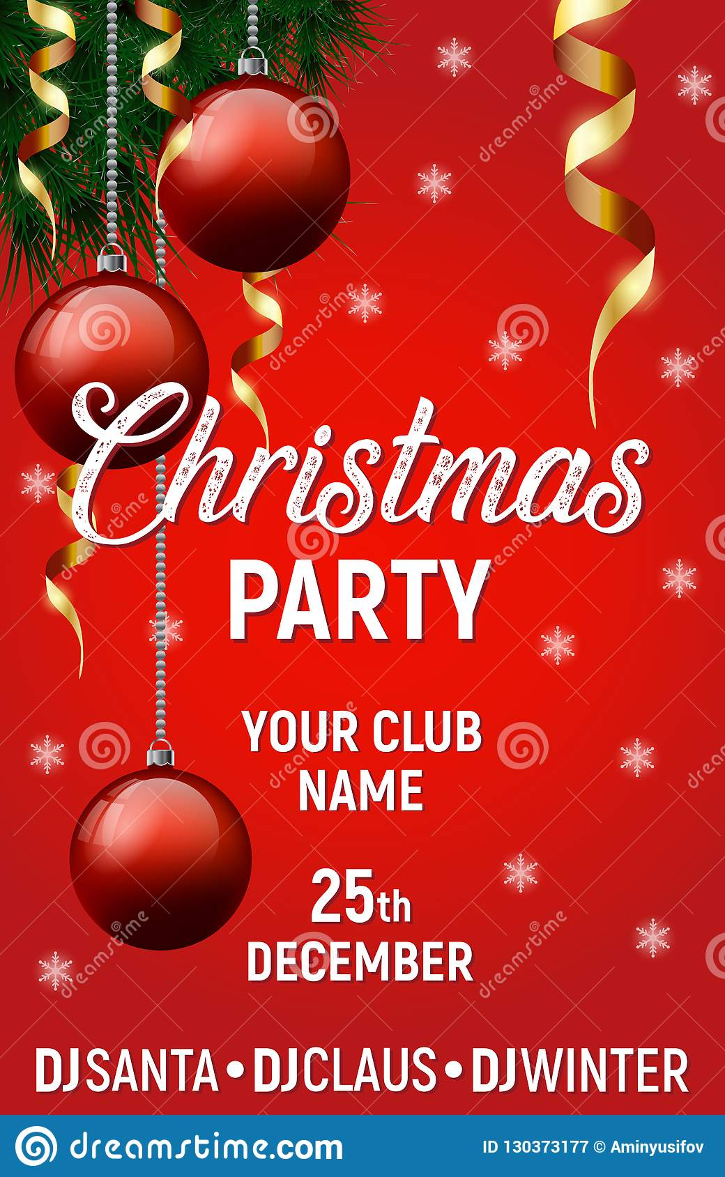 merry christmas vector poster happy new year banner christmas background xmas party