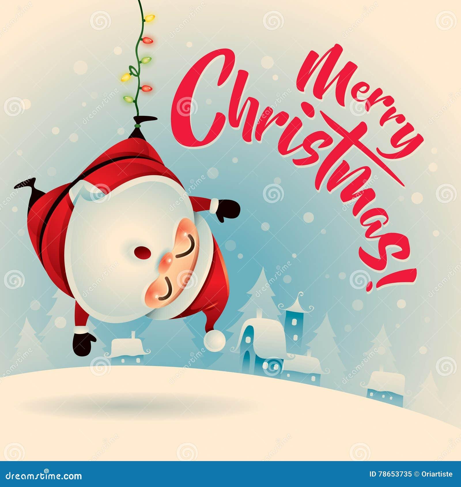 Merry Christmas! Vintage Christmas Greeting Card. Stock