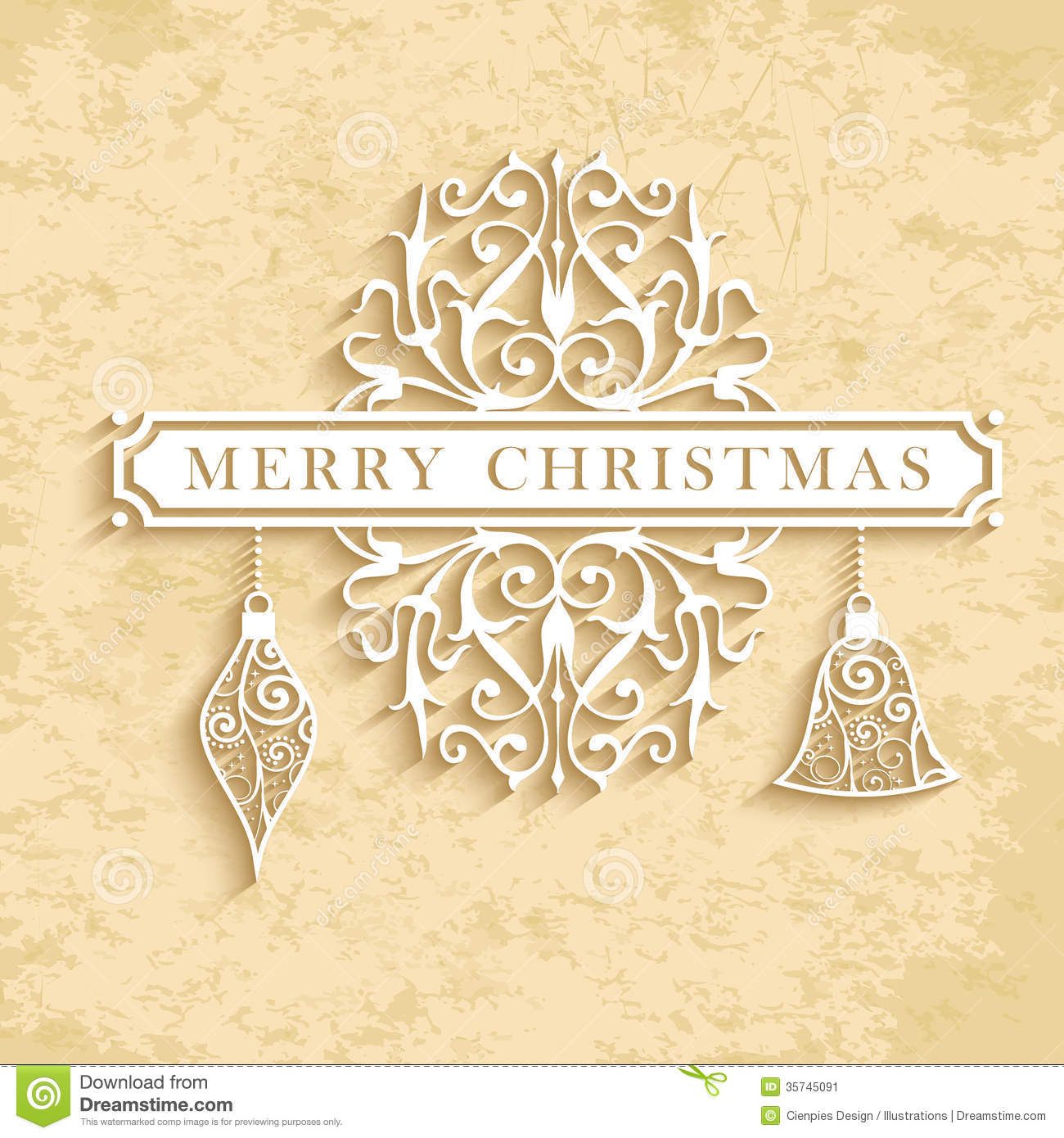 merry christmas vintage text card stock vector image 35745091. Black Bedroom Furniture Sets. Home Design Ideas
