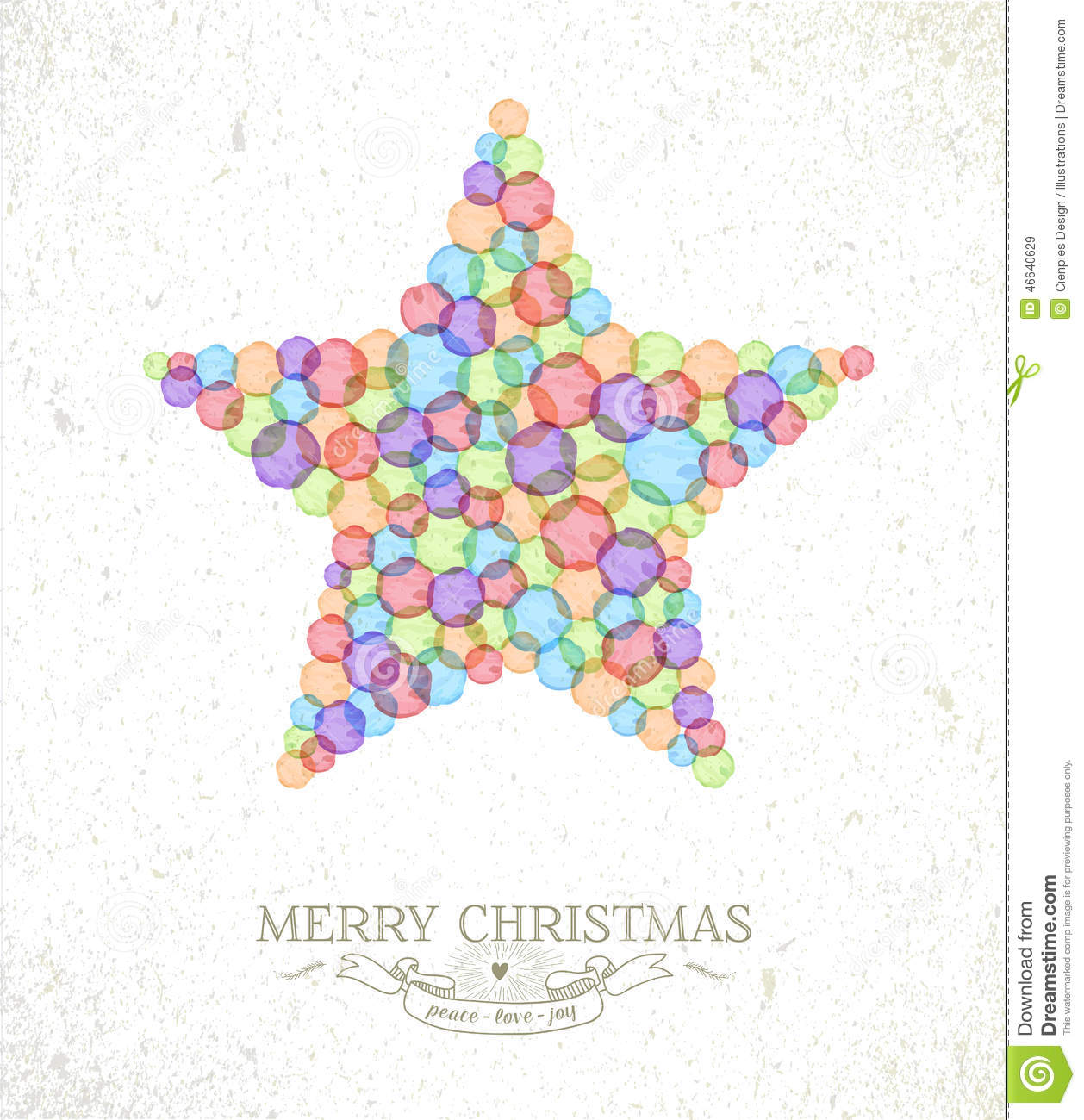 Merry Christmas Watercolor Star Illustration Stock Vector - Image ...