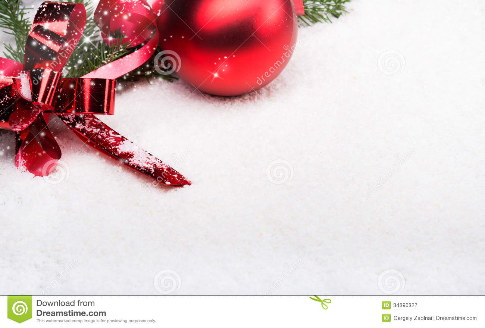 Merry Christmas Stock Image Image Of Snow Season Happy