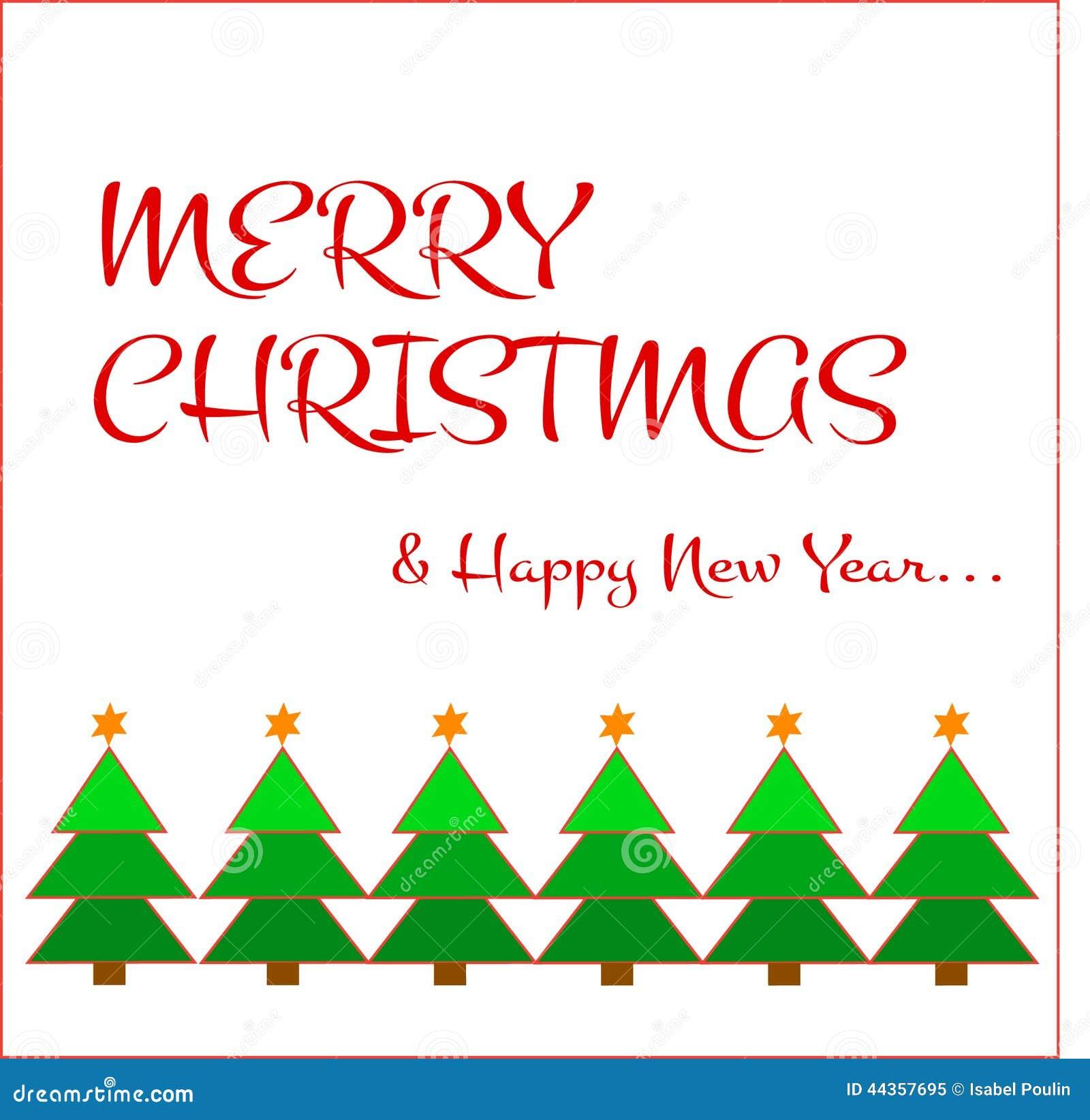 Merry christmas wish stock illustration. Illustration of brown ...