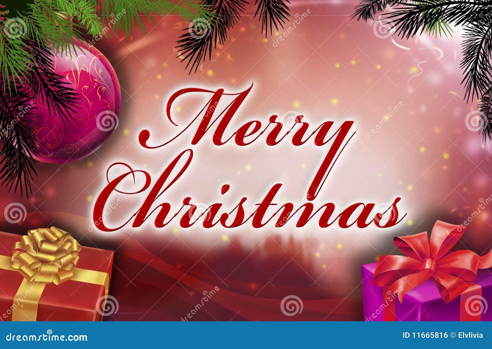Merry christmas wishes stock illustration. Illustration of