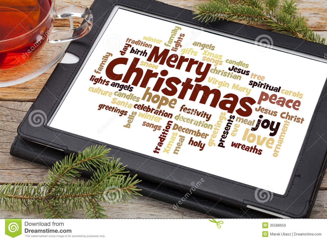 Merry Christmas Word Cloud Stock Image Image Of Merry 35588659