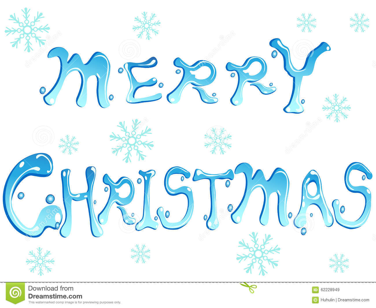 Merry Christmas Words Stock Vector. Illustration Of