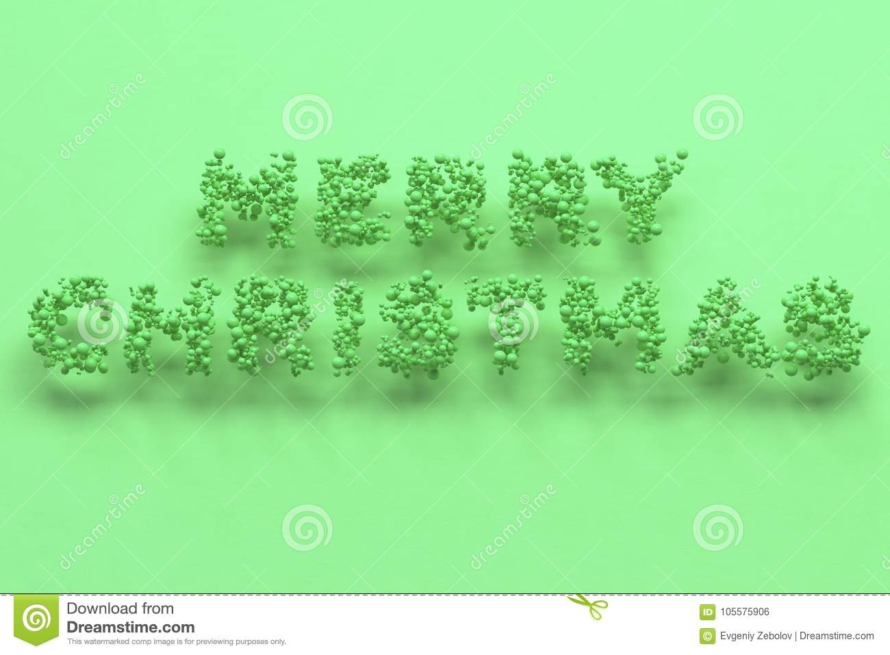 download merry christmas words from green balls on green background stock illustration illustration of sale