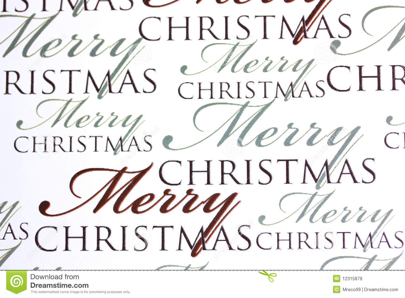 Merry Christmas Words On Paper Background Stock Image - Image of ...