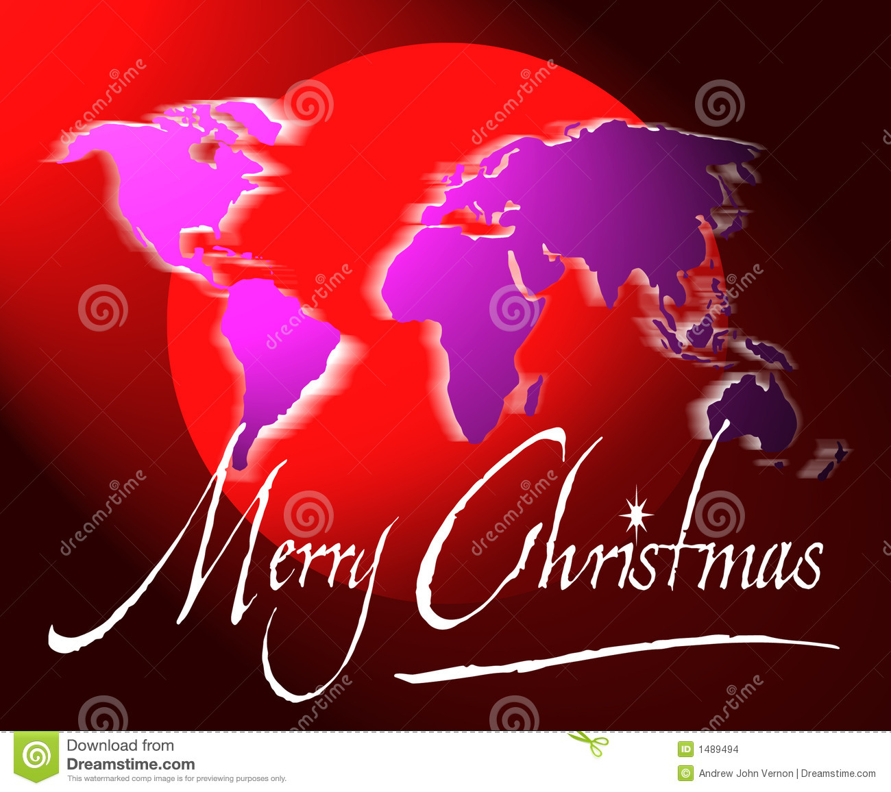merry christmas world map or globe stock images image