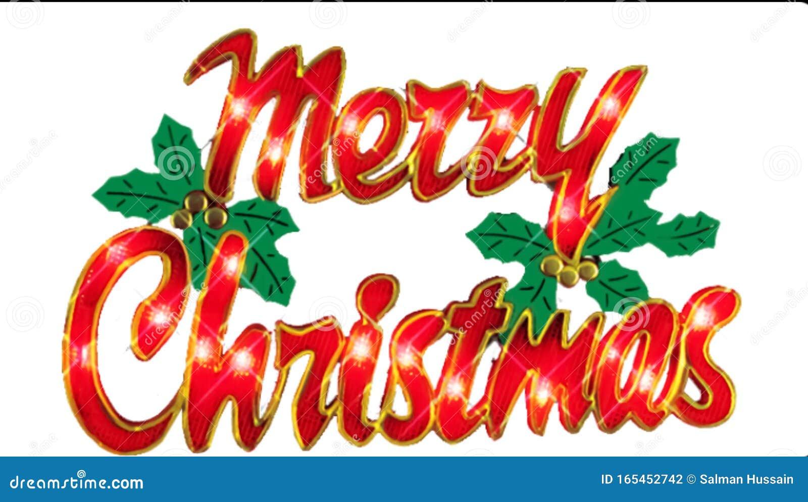 Merry Christmas written poster of 2019