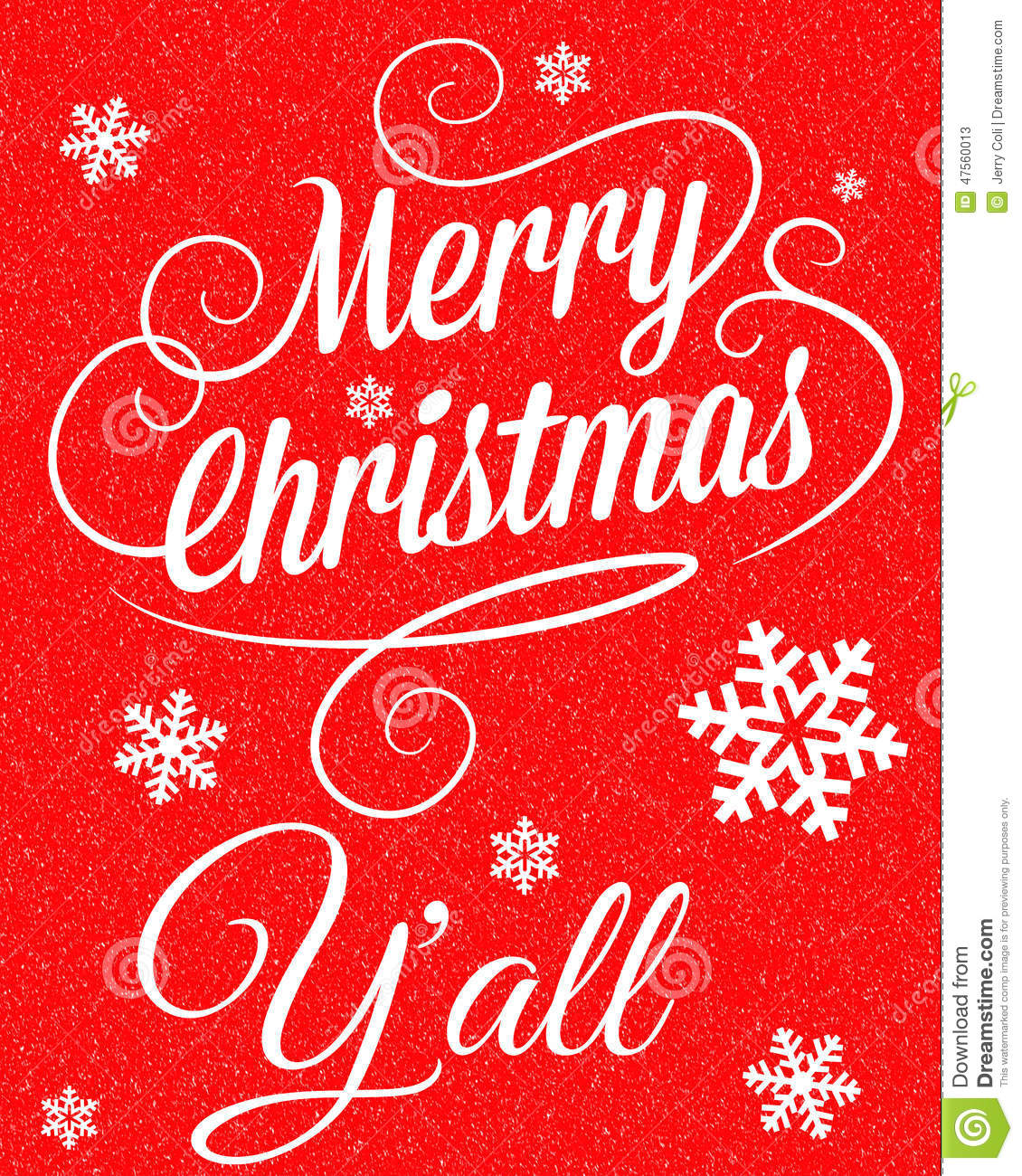 Merry christmas y all stock illustration image of
