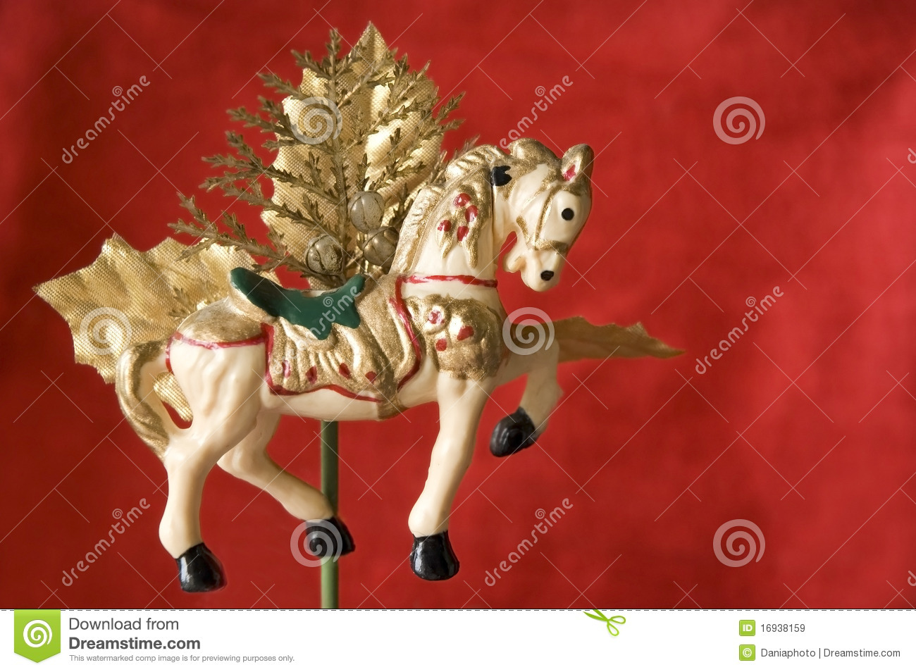 Christmas Decorations For Your Horse : Merry go round christmas ornament horse royalty free stock