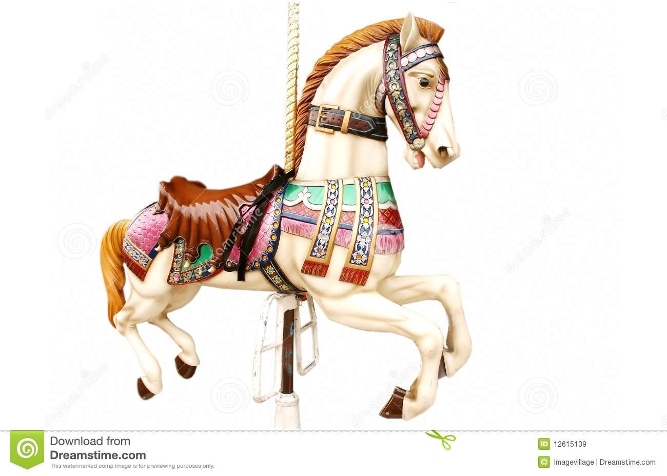Merry-go-round horse stock image. Image of empty, isolated ...