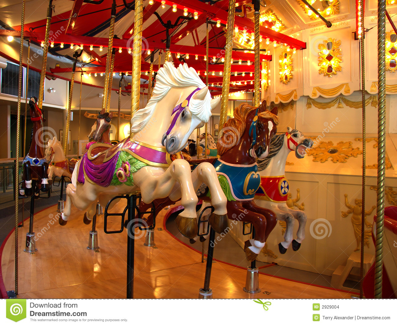 Merry-go-round Horse stock photo. Image of merry, children ...