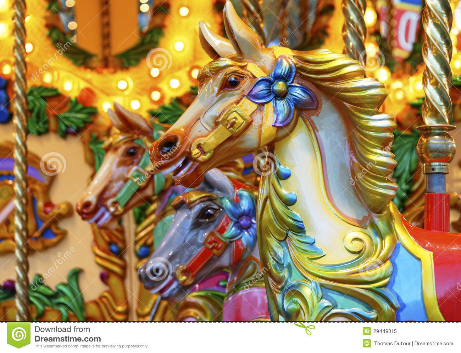 Merry Go Round Horses Royalty Free Stock Photo Image