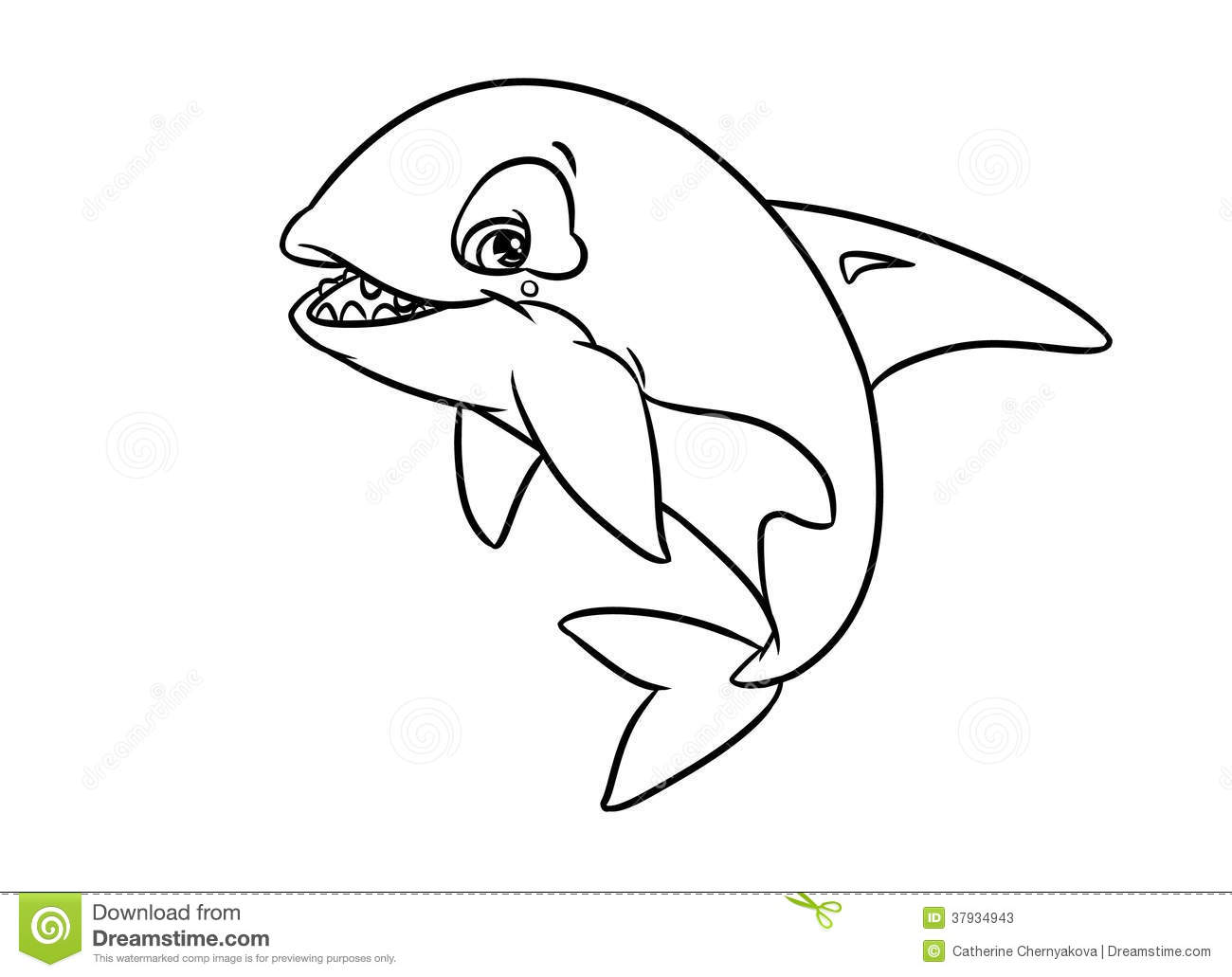 Merry Orca Illustration Coloring Pages