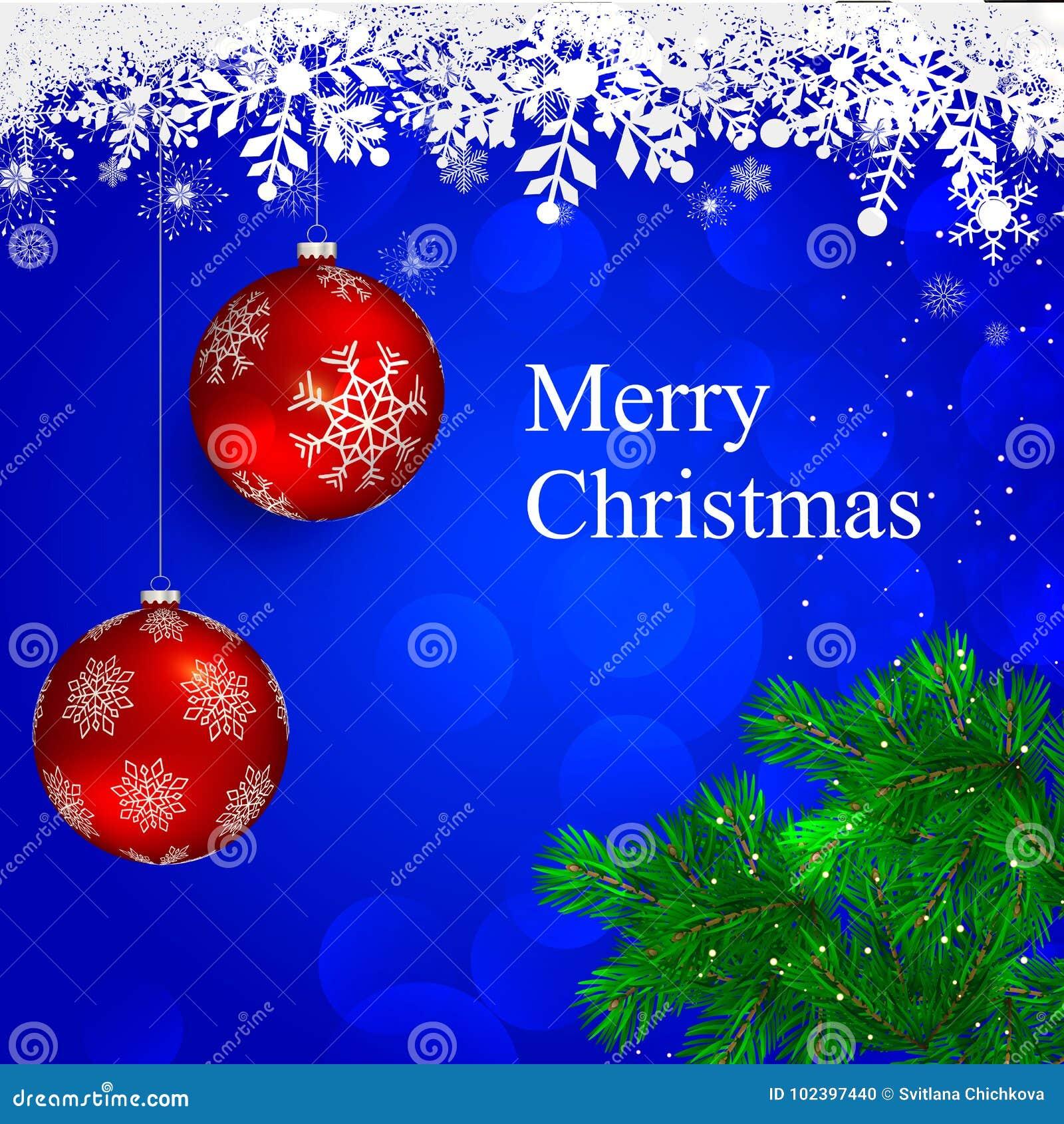Mery Christmas stock vector. Illustration of decorative - 102397440