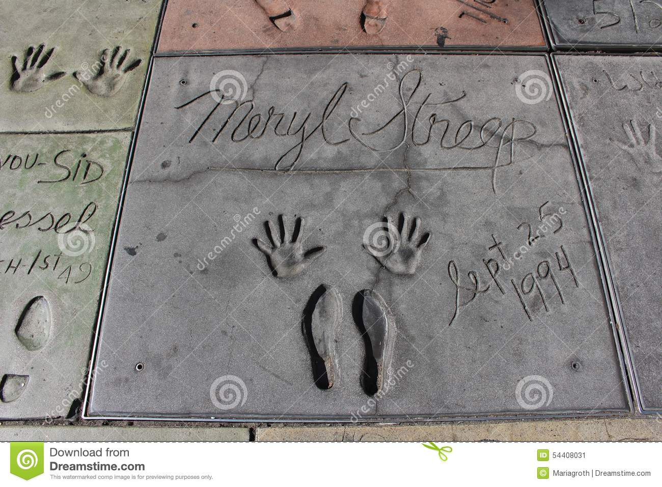 Chinese Theatre Hollywood: Handprints and Footprints