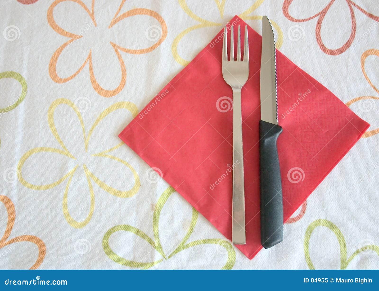 Mes en vork
