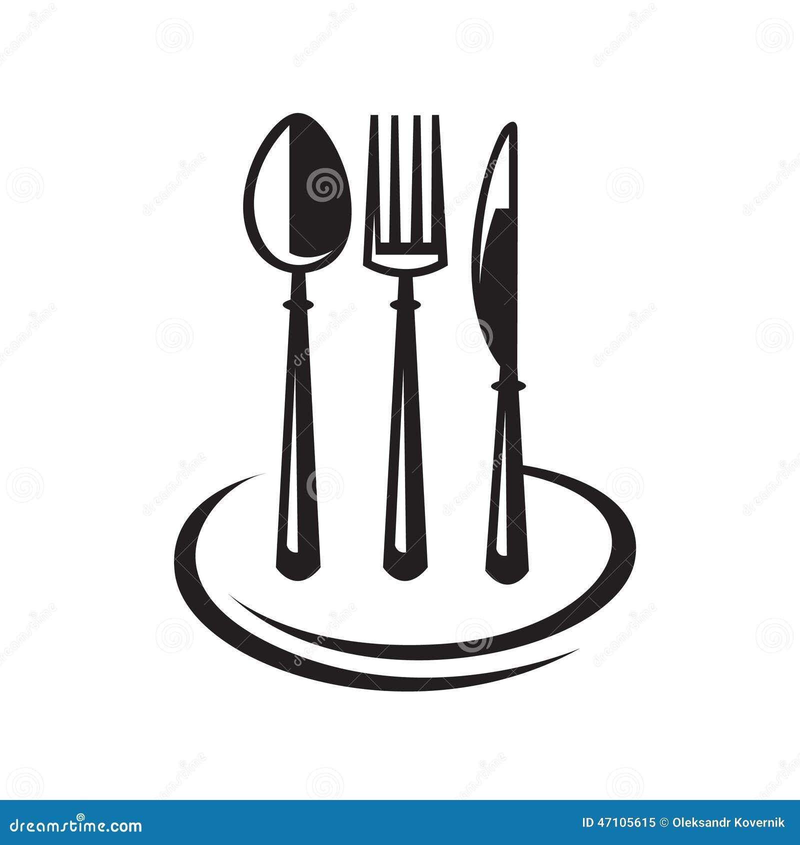mes vork lepel en plaat vector illustratie illustratie bestaande uit menu 47105615. Black Bedroom Furniture Sets. Home Design Ideas