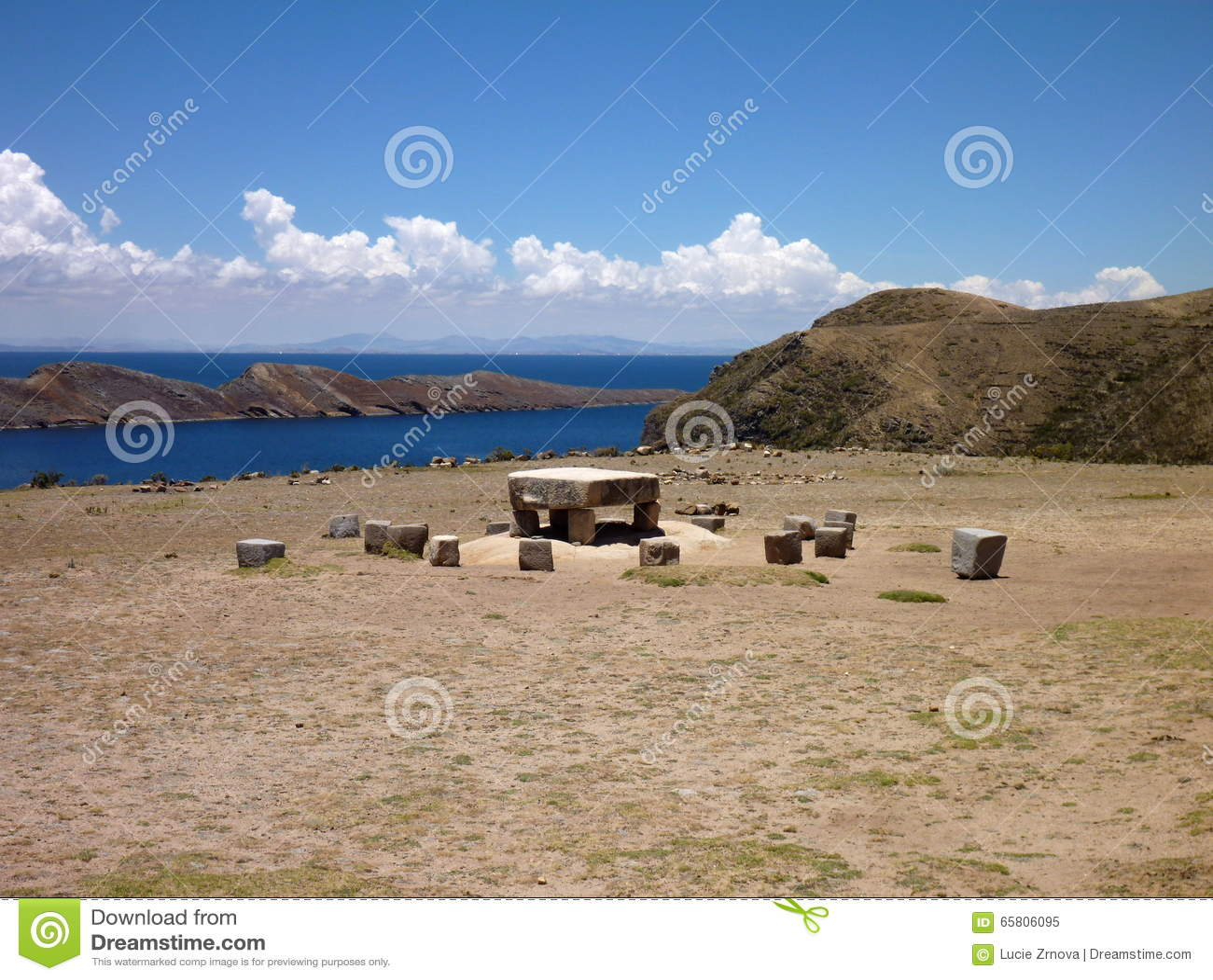 Mesa εθιμοτυπικό isla del sol στο titicaca lago