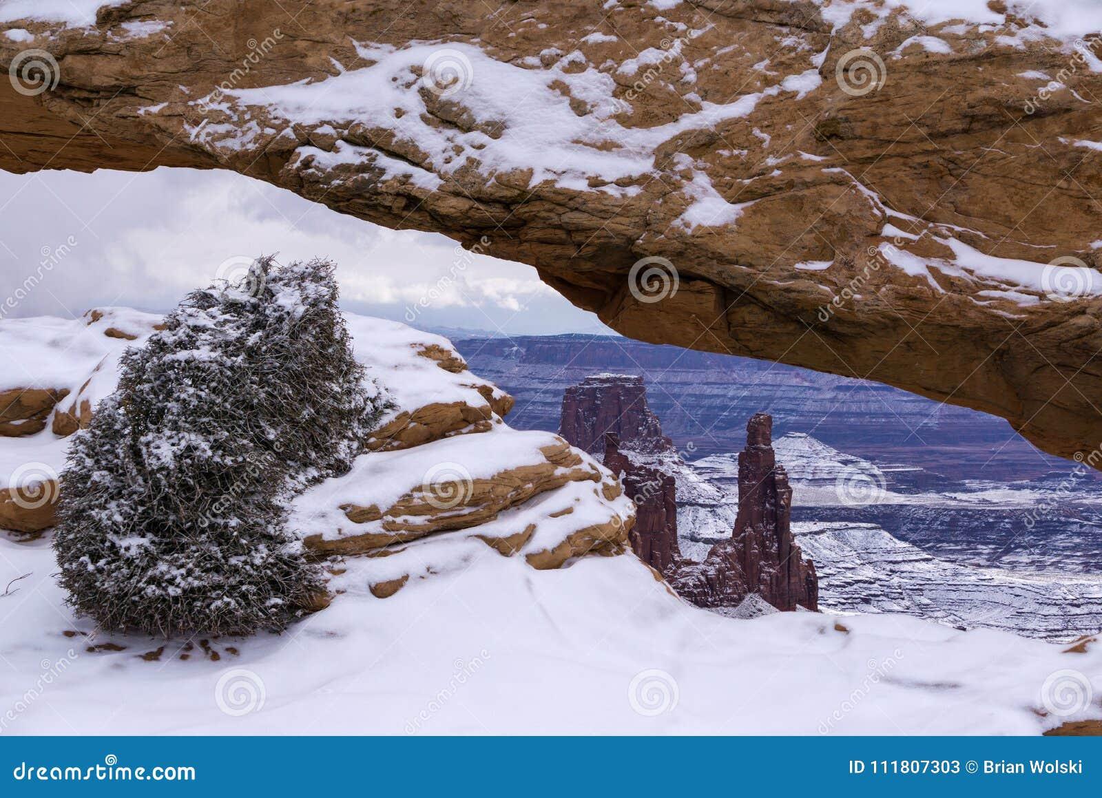 Mesa Arch nell inverno