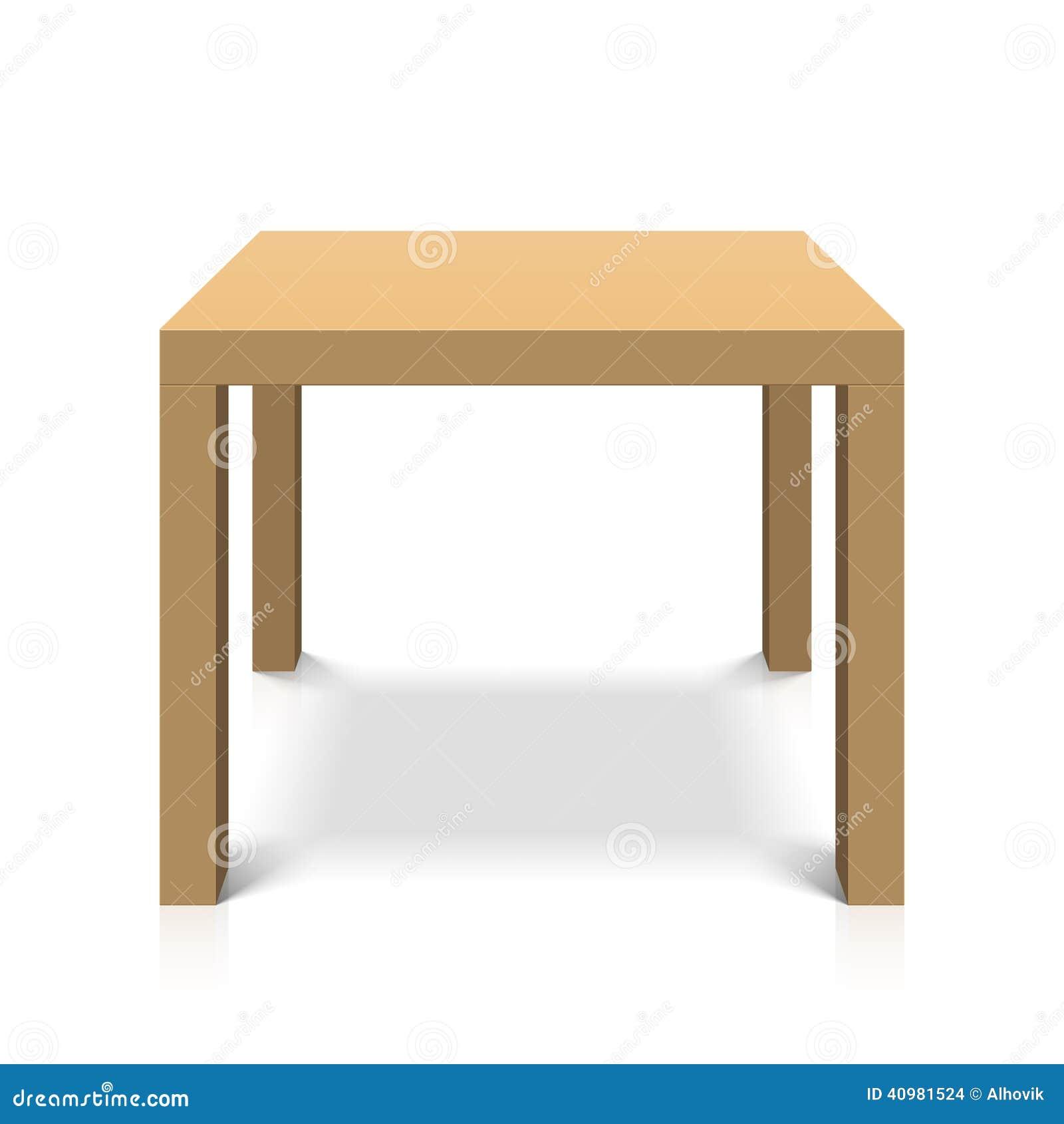 Mesa de centro cuadrada de madera ilustraci n del vector imagen 40981524 - Mesa centro cuadrada ...