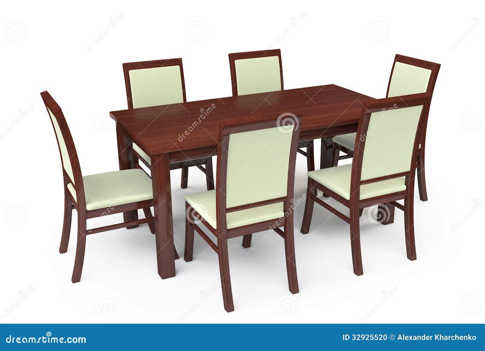 Mesa De Comedor Con Seis Sillas Stock De Ilustraci N Ilustraci N  # Muebles Grupo Seis