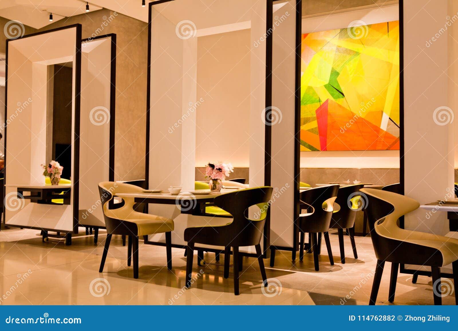 Mesa De Comedor Y Restaurante Moderno Del Estilo Chino Foto de ...