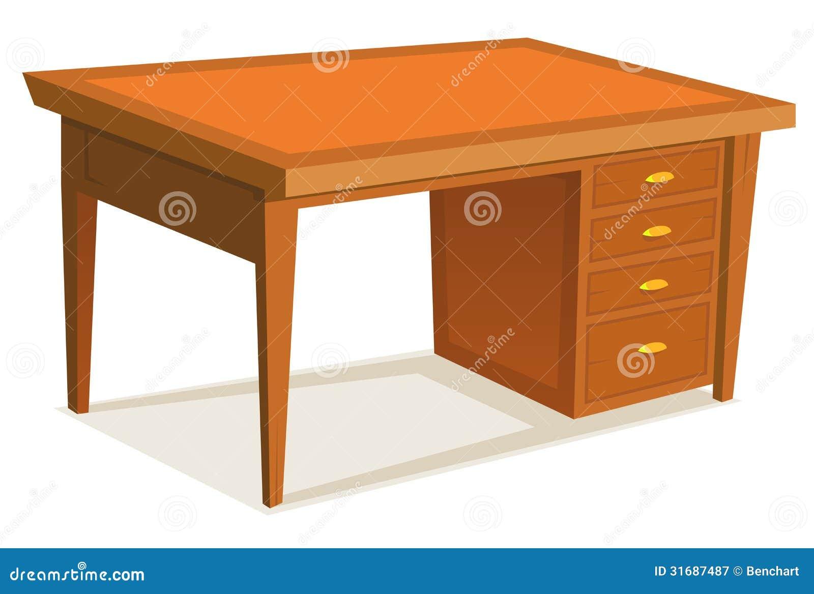 de madeira da mesa de escritório dos desenhos animados com gaveta #B49C17 1300x966