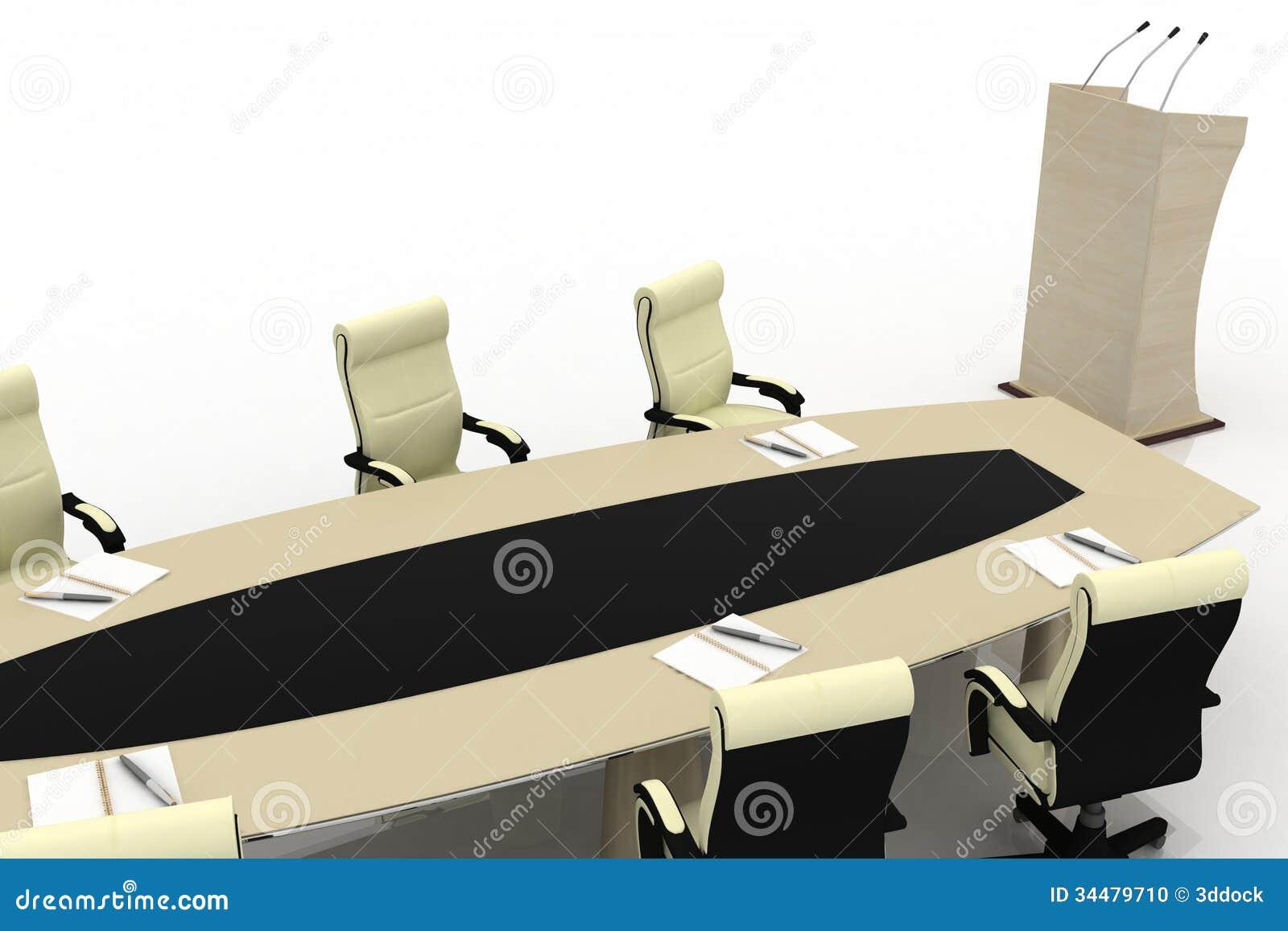 Mesa de reuniones para la oficina moderna foto de archivo for Mesa oficina moderna