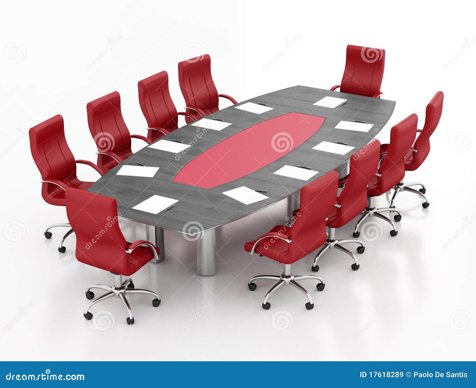 Mesa de reuniones roja y negra im genes de archivo libres for Mesa de reuniones